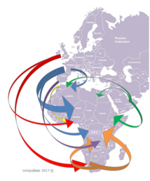 Major Business Flows towards Africa from EMEA